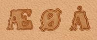 Alfabetsett,13mm, ÆØÅ