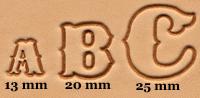 Alfabetsett,13mm,20mm,25mm
