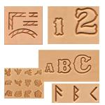 Punselsett,alfabet og tallsett