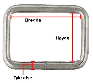 Åpen sleife, rustfritt stål