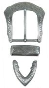 Spenne Fb 144, gammel nikkel, 40 mm