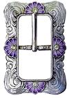 Spenne Fb 147, satinert sølvfarge med emalje