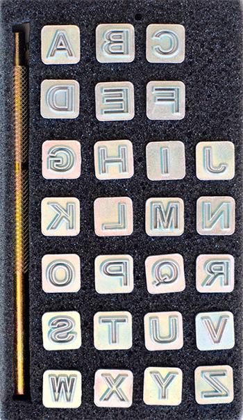 Alfabetsett, 7 mm blokkbokstaver