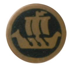 Mosaikkpin Vikingskip