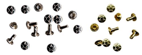 Bilde av stjernenitter,messing og nikkel