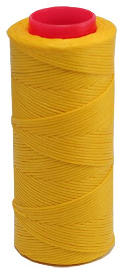 Vokset gul syntettråd, kraftig