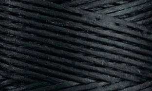 Vokset syntettråd, kraftig, 136, sort