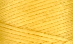 Vokset syntettråd, kraftig, gul 106